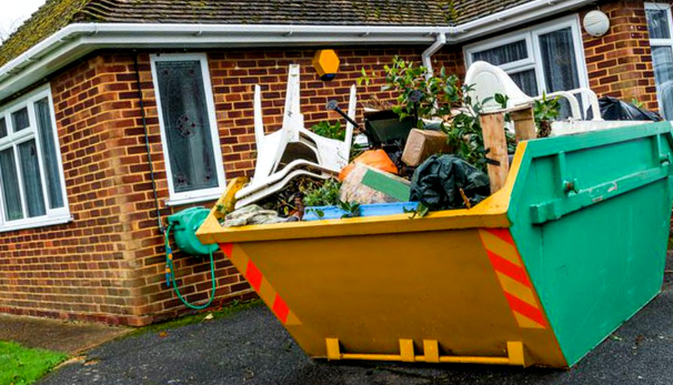Disposing home waste in skip bins